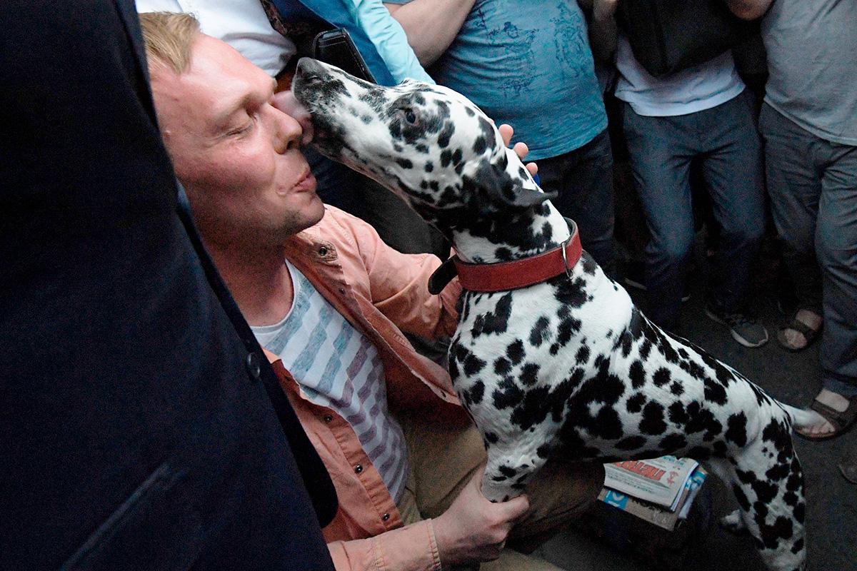 Иван Голунов и его собака
