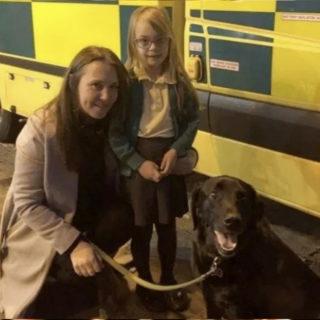 Великобритания: собака спасла хозяйку