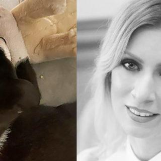 Мария Захарова с собакой